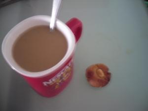 coffee and PB cookie